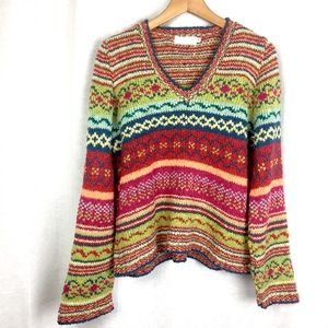 Anthropologie Relais Chunky Knit Pullover Sweater